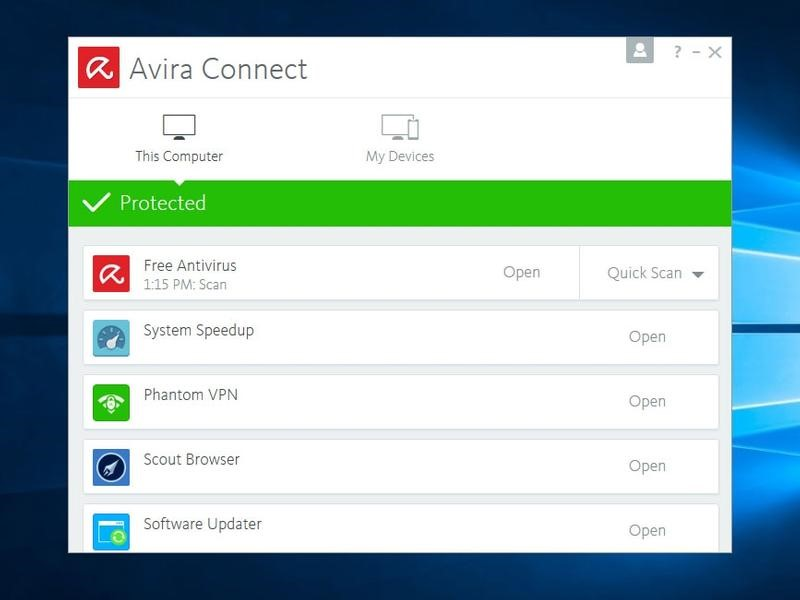 آنتی ویروس Avira Free Security Suite