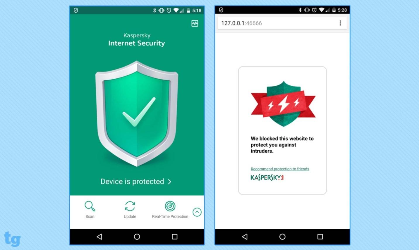 آنتی ویروس موبایل کسپراسکای اینترنت سکیوریتی- قسمت اول