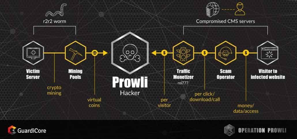 حمله سایبری پرولی برای کسب درآمد